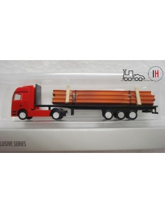 HERPA CAMION TRANSPORTE MB ACTROS ESCALA Z