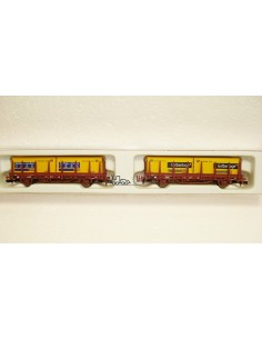 HOBBYTRAIN DOS VAGONES CONTAINERS DB EP V