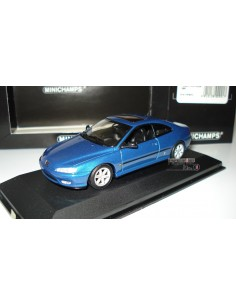 MINICHAMPS PEUGEOT 406 COUPE 1996 BLUE METALLIC