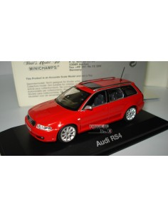 MINICHAMPS AUDI RS4 ROJO AUDI COLLECTION