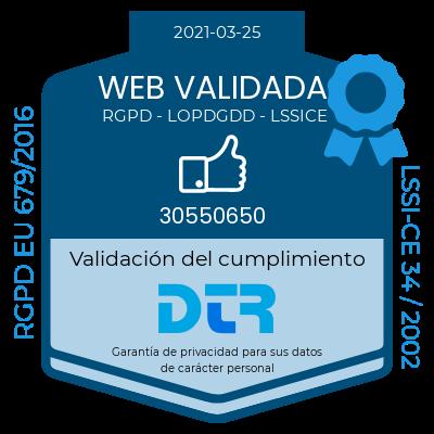 Web validada RGPD-LSSICE