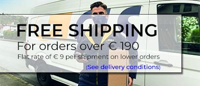 Gastos de envío gratuitos en pedidos de más de de 190€